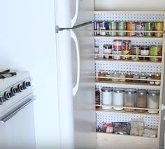 creative save space storage ideas for small kitchen you need to have page 8 Kitchen Pantry Design, Small Kitchen Storage, Small Space Kitchen, Kitchen Decor, Kitchen Ideas, Kitchen Pantries, Pantry Ideas, Kitchen Nook, Small Storage