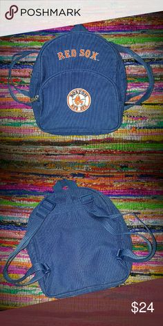 Boys Backpack NWOT   Boston Red Sox Baseball Backpack  Half Pint Mini Backpack Red Sox Accessories Bags