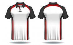 T-shirt polo design, modelo de camisa de esporte. Polo T Shirt Design, Polo Design, Cricket Dress, T Shirt Design Template, Design Templates, Badminton Shirt, Polo Tee Shirts, Uniform Design, Long Sleeve Polo