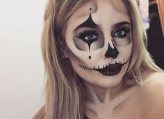 clown, makeup, and skeleton image