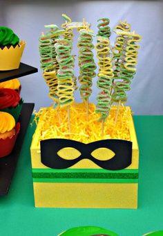 teen titans party ideas | Robin Superhero Party via Karas Party Ideas | KarasPartyIdeas.com # ...