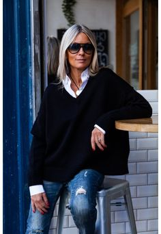 50 Fashion, Winter Fashion, Fashion Looks, Fashion Outfits, Womens Fashion, Clothes For Women Over 50, Vetement Fashion, Cooler Look, Casual Fall Outfits
