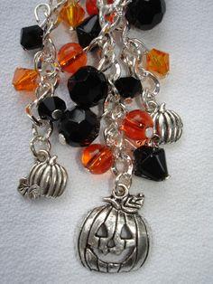 Time for Halloween ~ Pumpkin Purse Charm  by GreenInspiredDesigns, $17.00
