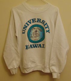 SOLD   Hawaii Vintage University of Hawaii Sweatshirt by MY2NDJOB on Etsy SOLD