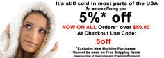 It's still cold in most parts of the USA and elsewhere, so we at ETS Company are offering our customers, 5% off all Orders over $50.00.  Use Code 5off at Checkout! Read more on our blog: http://etscompany.com/wordpress/2014/03/03/5-orders-50-00-use-code-5off-checkout/