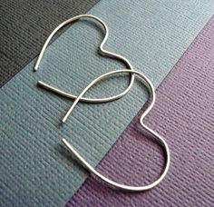 Heart-shaped earrings from sterling silver.