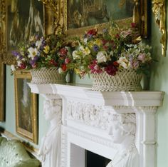 Porcelain flower baskets