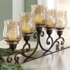 Set Of Five White Dover Candlesticks  Grandinroad  Pinterest Enchanting Dining Room Centerpiece Ideas Candles Inspiration Design