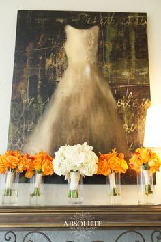 Chapel at Ana Villa Bridal Suite Orange and White Bouquets