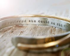 Gift for Her / Inspirational Jewelry / Silver Gold by amywaltz