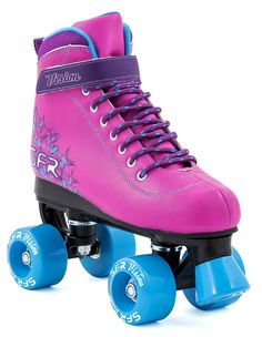 The SFR Vision II quad skates make great indoor and outdoor skates for girls and boys. Semi-soft vinyl quad skate, High-top upper for ankle support, Lace up closure with velcro power strap, 53 x 30mm 82A PU injected wheels, Precision skate bearings We recommend you go for one size bigger than normal.
