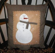 Hey, I found this really awesome Etsy listing at https://www.etsy.com/listing/183655846/unstuffed-snowman-pillow-cover-primitive