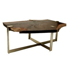 Kennebec Coffee Table   Industrial, Rustic  Folk, Transitional, Metal, Natural Material, Wood, Coffee  Cocktail Table by Susan Fanfa Design