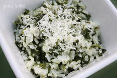 Rice with Spinach - Sauteed spinach combined with rice makes a delicious side dish I just can't get enough of!