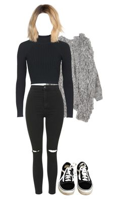 """""""Untitled #1564"""" by elvirasuperman ❤ liked on Polyvore featuring Topshop and Vans"""