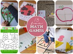 Yay for Math! 13 Fun Math Games for Kids - so glad about these since my kids are TIRED of studying this spring. This will help. Easy Math Games, Math Activities For Kids, Math For Kids, Math Resources, Maths Fun, Kids Fun, Numbers Preschool, Simple Math, Homeschool Math