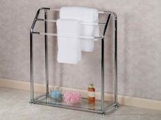 free standing towel rack design