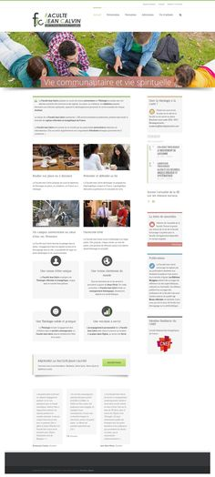 WordPress site facultejeancalvin.com uses the Avada wordpress theme