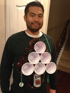 Ugly Christmas Sweater... beer pong style!