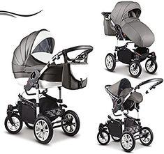 """16 teiliges Qualitäts-Kinderwagenset-Reisesystem 3 in 1 """"COSMO"""" in 41 Farben: Kinderwagen + Buggy + Autokindersitz + Schwenkräder - Mega-Ausstattung - all inclusive Paket in Farbe (C-42) WEISS-HELLGRAU-WEISS: Amazon.de: Baby"""