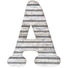 "A 5"" Corrugated Metal Letter"