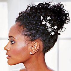 Penteados para noiva com cabelo afro