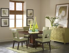 Campton Square Dining Room with 4 Sage Chairs