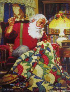 Free Tutorial - Santa's Rising Sun Quilt