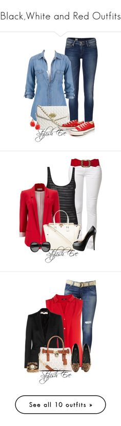 """""""Black,White and Red Outfits"""" by stylisheve ❤ liked on Polyvore featuring Tommy Hilfiger, ASOS, Converse, Dorothy Perkins, Replay, Agent Ninetynine, Wallis, Valentino, Giuseppe Zanotti and Yves Saint Laurent"""