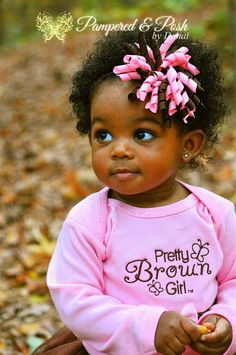 Pretty Brown Girl Tutu & Accessories. $80.00, via Etsy. - Gorgeous little chocolate baby