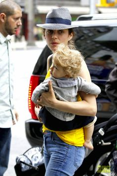 Marion Cotillard and her son