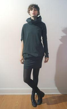 Asymmetrical Hooded Tunic by emilyryan on Etsy.