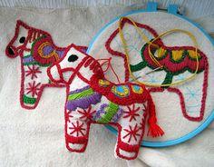 Embroidered Dala Horses   Jacque Davis   Flickr
