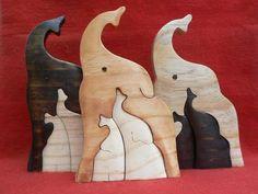 Artesanato Paraty - Artesanato em madeira: Elefantes 002 P 11x7 cm 14,00 R$ e G 17x11cm R$ 26,00