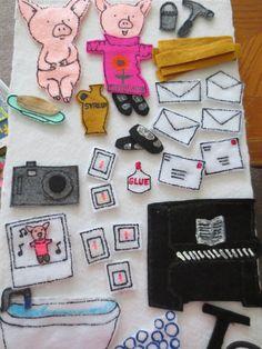 If you give a pig a pancake felt story Flannel Board Stories, Felt Board Stories, Felt Stories, Flannel Boards, Stories For Kids, Book Activities, Preschool Activities, Laura Numeroff, Felt Kids