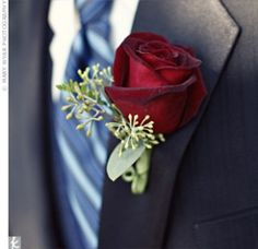 Buttonhole - great rose color!