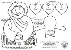 This free colouring printable: Colour in and cut out to make a mobile. Children can child draw themselves on the little person. Slip it into Jesus' arms.