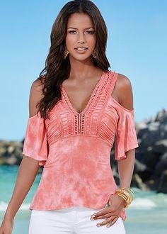 Summer's hottest top! Venus tie dye crochet top.