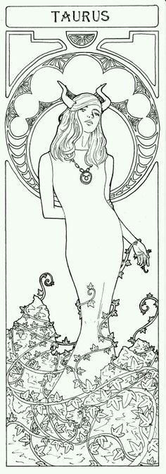Cute Horoscope Aries Sign Coloring Pages Free instant