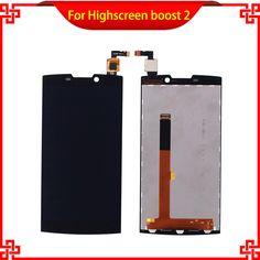 Highscreen boost 2 se Için LCD Ekran Dokunmatik Ekran Digitizer Meclisi Yüksek Kalite Dokunmatik Panel Cep Telefonu Lcd'ler Ücretsiz Kargo