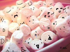 marshmallows with faces | Marshmallows With Faces!~ by FionnaART921