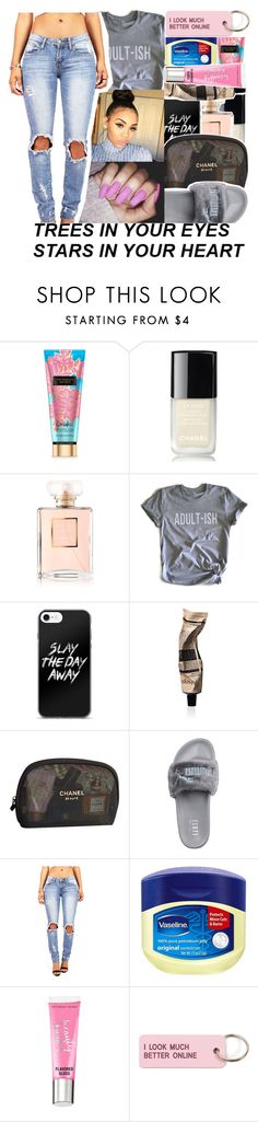 """""""sixty six"""" by tynescloset ❤ liked on Polyvore featuring Chanel, Humör, Aesop, Puma, Vaseline, Victoria's Secret and Various Projects"""