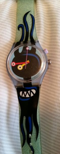 Vintage used Swatch Watch in okay Condition meaning it shows signs of wear with scratches and such. The band is dry, the watch is untested and sold as is. Reads AG 1989 on the face and S936 on the back. | eBay!
