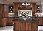 Merillat Cabinets - Caliseo Kitchen, cherry chocolate with ebony glaze finish