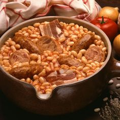Cassoulet à l'ancienne - receipe French Dishes, French Food, Healthy Dinner Recipes, Coco, Macaroni And Cheese, Chicken Recipes, Food And Drink, Stuffed Peppers, Cooking
