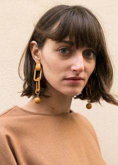 "#newarrivals #Camel#Link #Drop #Earrings #accessories #thefrankieshop #frankienyc #frankiegirl CamelLink Drop Earrings. Shiny Finish Acetate w/Metal Post for Pierced Ears Approx 4""L x Approx 0.75""W Imported"