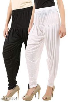 Ethnic Bottomwear - Patiala Pants  Trendy Women Dhoti Patiala Pants Combo (Pack Of 2) Fabric: Cotton Viscose Size: XL - 34 in  XXL - 36 in  Length: Up To 40 in Type: Stitched Description: It Has 2 Pieces Of Women's Dhoti Patiala Pant Pattern: Solid Country of Origin: India Sizes Available: XL, XXL, XXXL, 4XL, 5XL   Catalog Rating: ★4 (500)  Catalog Name: Trendy Women Dhoti Patiala Pants Combo CatalogID_820154 C74-SC1018 Code: 853-5495954-168
