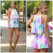 Water Color Wish Romper from the Cousin Couture.