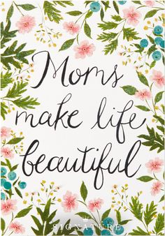 Moms make life beautiful. Let Mom know how thankful you are for her love and support with this floral-inspired Mother's Day card from Hallmark Signature—the perfect accessory to any gift idea!