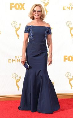 Jesica Lange on the Emmys red carpet.